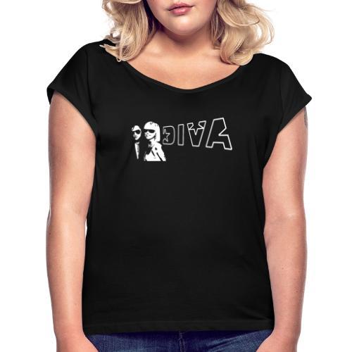 DIVA 01 - Frauen T-Shirt mit gerollten Ärmeln