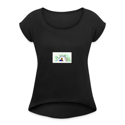 Project Drawing 1 197875703 - Women's T-Shirt with rolled up sleeves