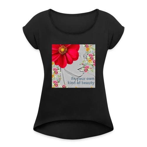 Girly - T-shirt à manches retroussées Femme