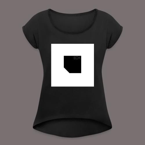 ecke - Frauen T-Shirt mit gerollten Ärmeln