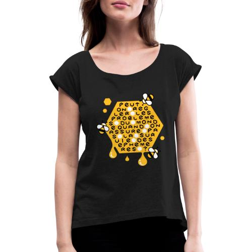 Sauver les abeilles - T-shirt à manches retroussées Femme