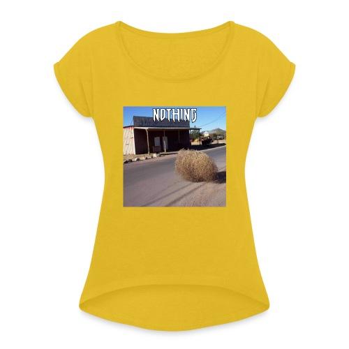 NOTHING - T-shirt à manches retroussées Femme