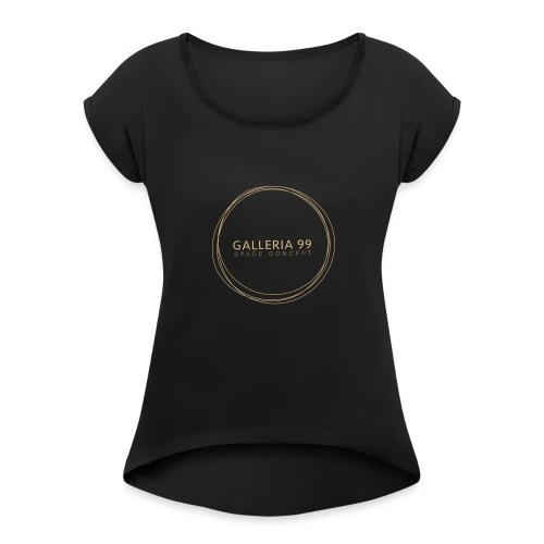 GALLERIA99 - Maglietta da donna con risvolti