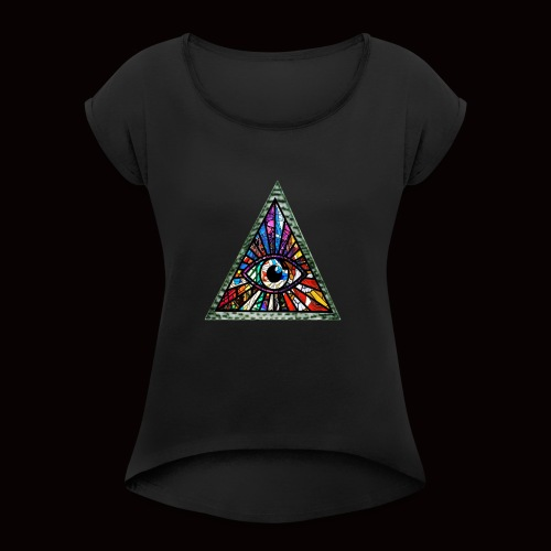 ILLUMINITY - Women's T-Shirt with rolled up sleeves