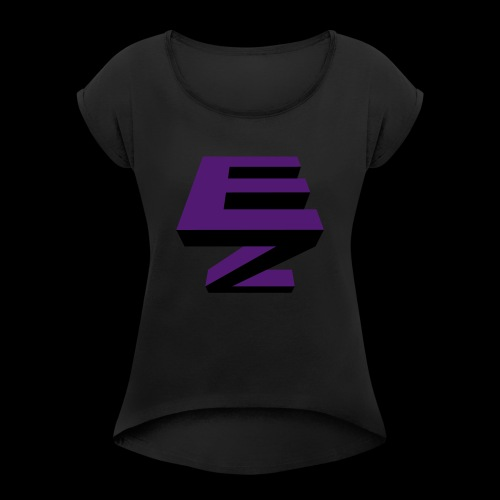 Electric Zoo logo - Women's T-Shirt with rolled up sleeves