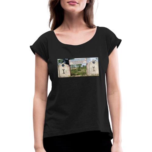 KURUKANG FUGA - T-shirt med upprullade ärmar dam