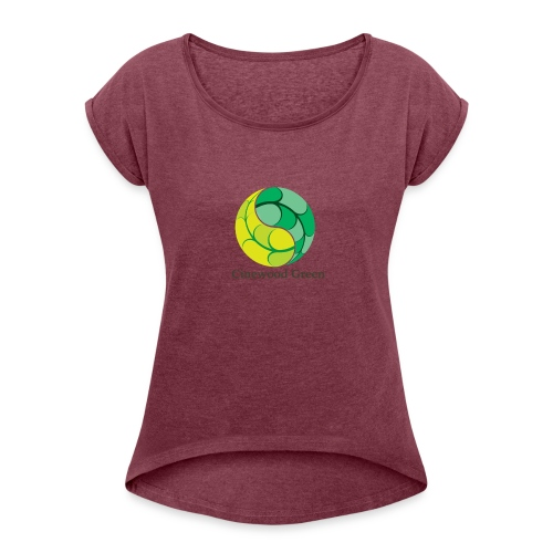 Cinewood Green - Women's T-Shirt with rolled up sleeves