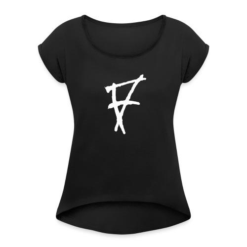 Ataya - Camiseta con manga enrollada mujer