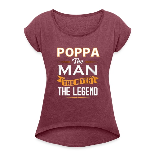 POPPA1 - Women's T-Shirt with rolled up sleeves