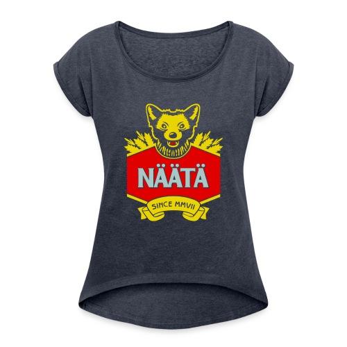 Näätä - Naisten T-paita, jossa rullatut hihat