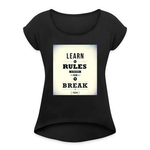 RULES - Vrouwen T-shirt met opgerolde mouwen