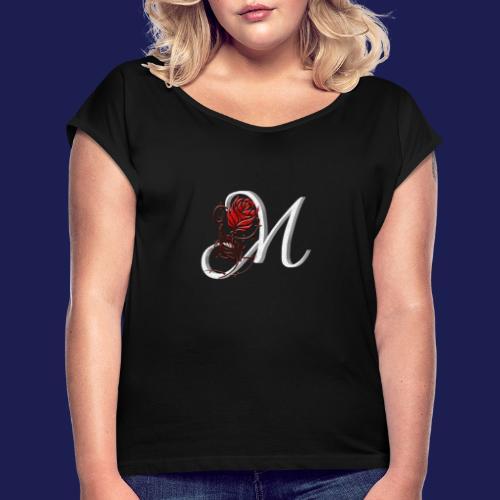 Merlydesing - Camiseta con manga enrollada mujer