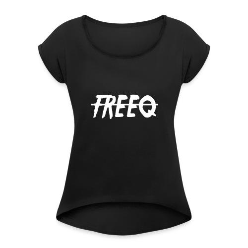 freeq - T-shirt med upprullade ärmar dam