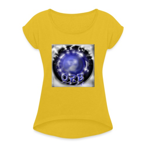 Hyperspace potato Blue Orb - Women's T-Shirt with rolled up sleeves