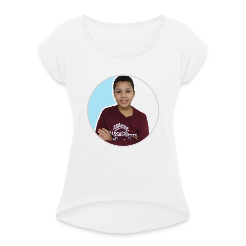 DatGamerXL - Women's T-Shirt with rolled up sleeves