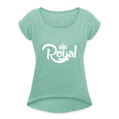 Royal Logo White Edition - Women's T-Shirt with rolled up sleeves