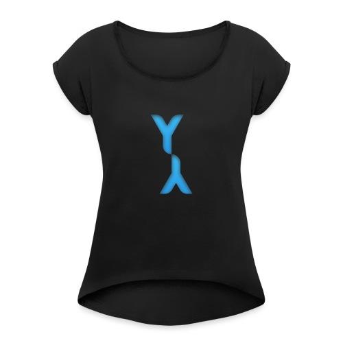 Logo Officel Yandaillou - T-shirt à manches retroussées Femme