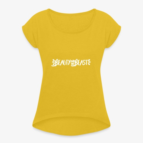 Beauty and the Beast - Women's T-Shirt with rolled up sleeves