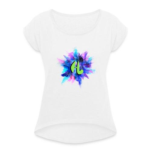 Hockeyvidshd nieuwe collectie - Vrouwen T-shirt met opgerolde mouwen