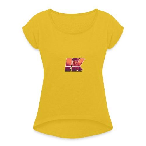 Ishaan Kulkarni Logo (1) - Women's T-Shirt with rolled up sleeves