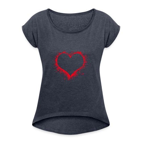 heart 2402086 - Maglietta da donna con risvolti