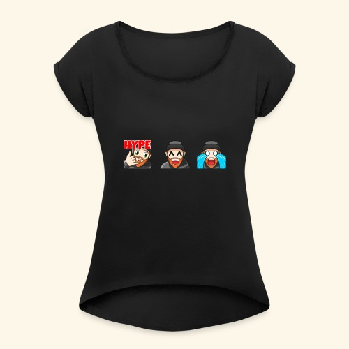 3Emotes - Women's T-Shirt with rolled up sleeves