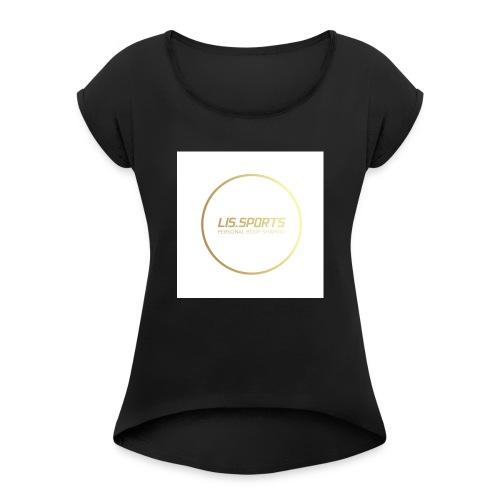 lissports - Vrouwen T-shirt met opgerolde mouwen