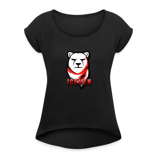 Ice Men Fashion - Vrouwen T-shirt met opgerolde mouwen