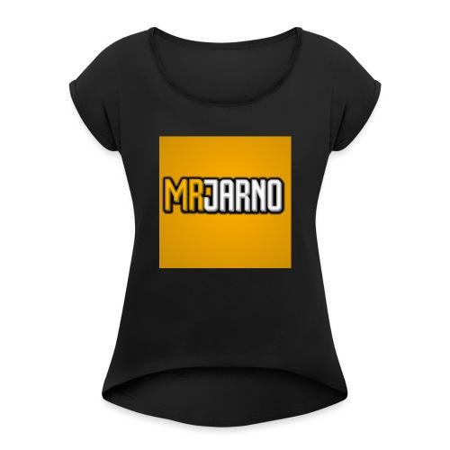 MRJARNOMERCH - Vrouwen T-shirt met opgerolde mouwen
