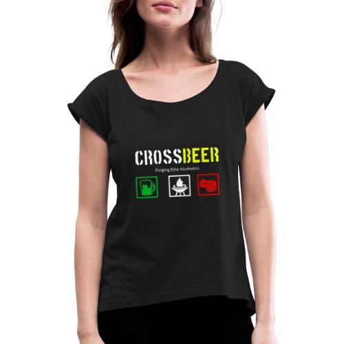 crossbeer - Maglietta da donna con risvolti