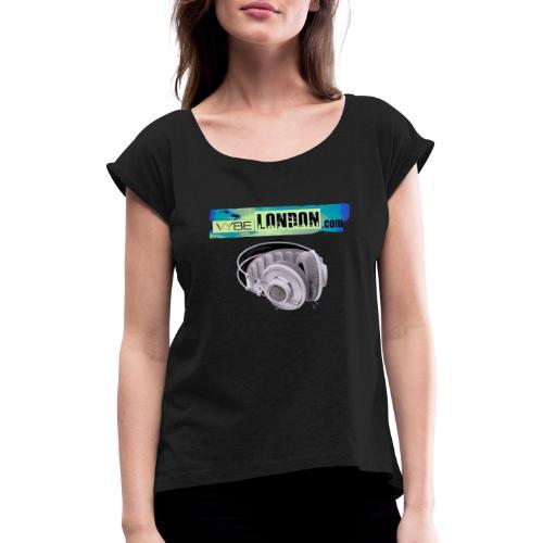 D1A08F33 1A08 4094 9312 AC7D773136DF - Women's T-Shirt with rolled up sleeves
