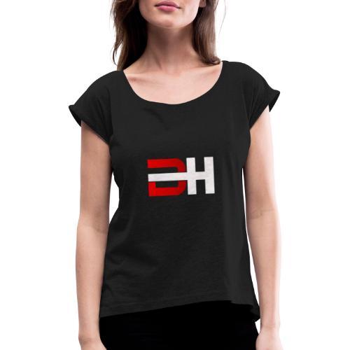 Hoodies - T-shirt à manches retroussées Femme
