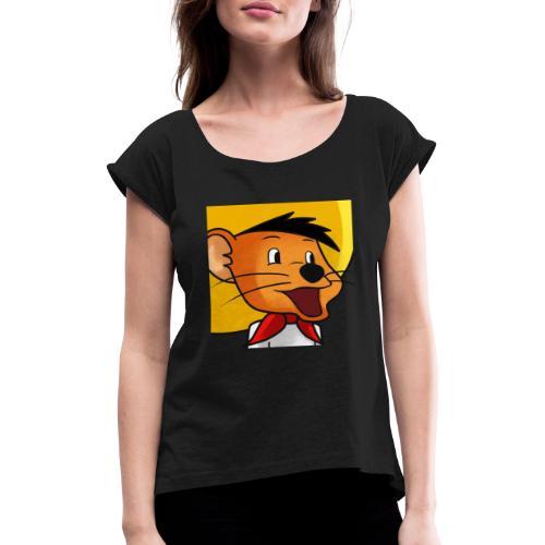 speedy89 - Dame T-shirt med rulleærmer