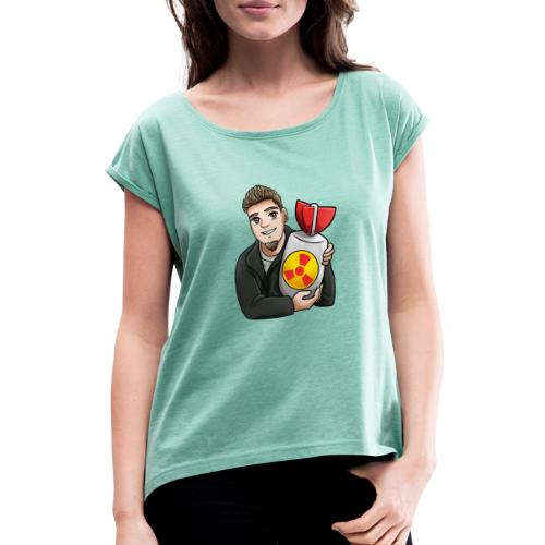 atomic bomb - Women's T-Shirt with rolled up sleeves