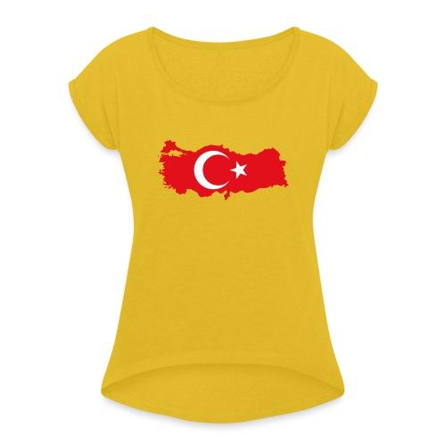 Tyrkern - Dame T-shirt med rulleærmer