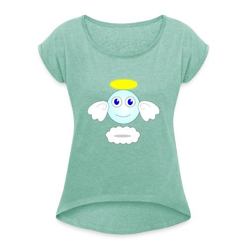 puff logo - Maglietta da donna con risvolti