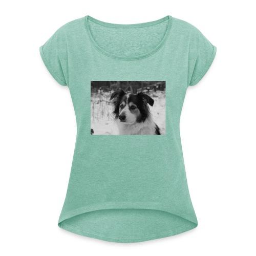 Skippy Winter - Frauen T-Shirt mit gerollten Ärmeln