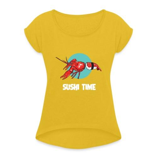 SUSHI TIME-gambero-b - Maglietta da donna con risvolti