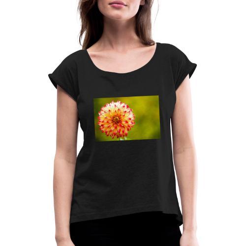 Blomst - Dame T-shirt med rulleærmer