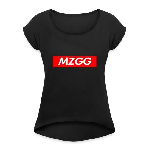 MZGG FIRST - T-shirt med upprullade ärmar dam