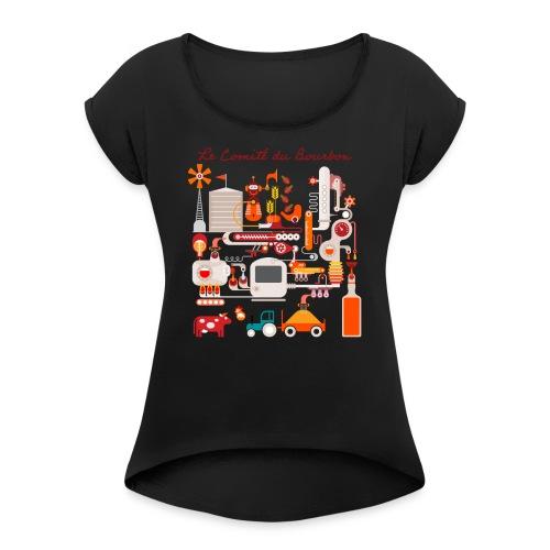 Le Comité du Bourbon - T-shirt à manches retroussées Femme