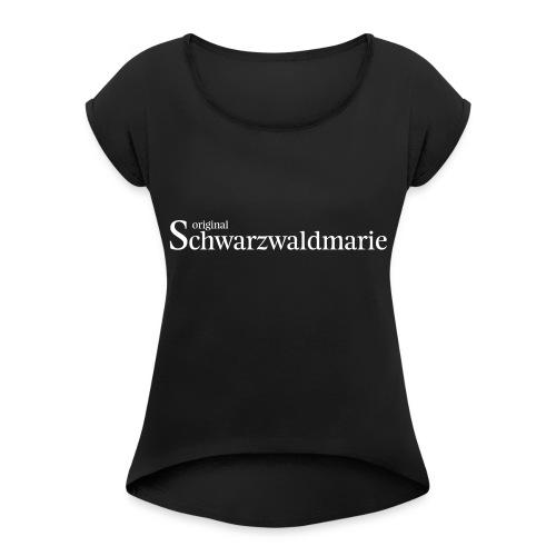 Schwarzwaldmarie - Frauen T-Shirt mit gerollten Ärmeln