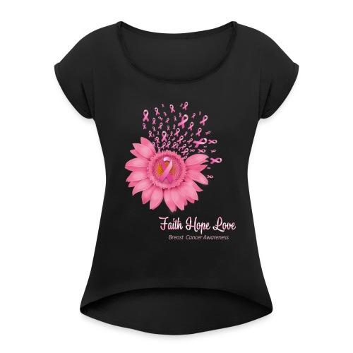 hope love - T-shirt à manches retroussées Femme