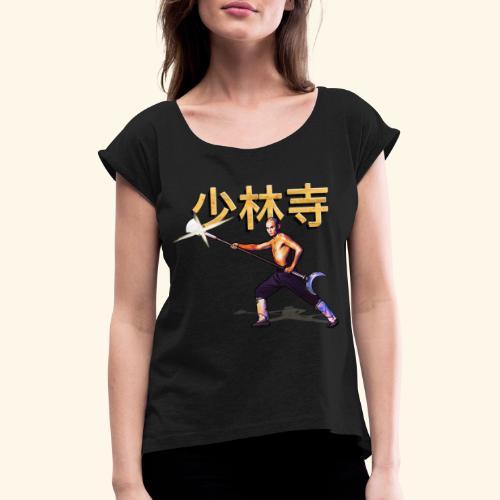Gordon Liu as San Te - Warrior Monk - Vrouwen T-shirt met opgerolde mouwen