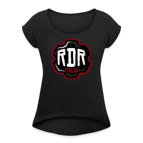 Logo Ufficiale RdR Italia - Maglietta da donna con risvolti