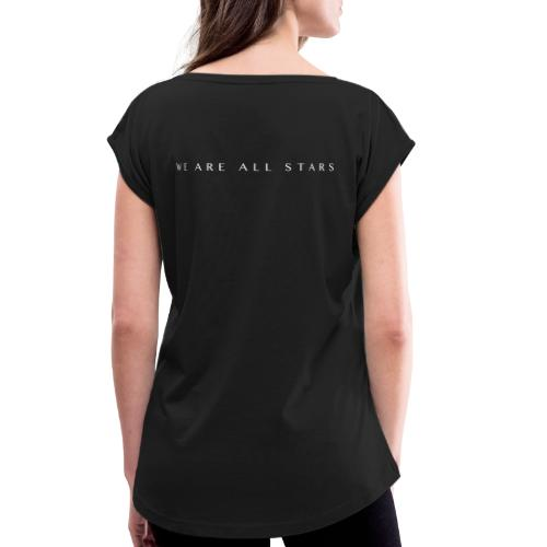Galaxy Music Lab - We are all stars - Dame T-shirt med rulleærmer