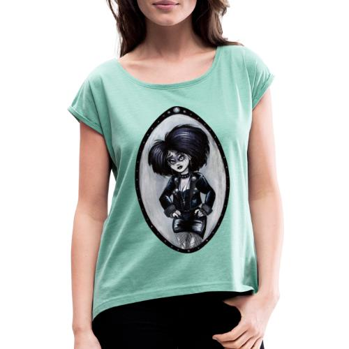 Trad Goth Art by E. R. Whittingham - Women's T-Shirt with rolled up sleeves