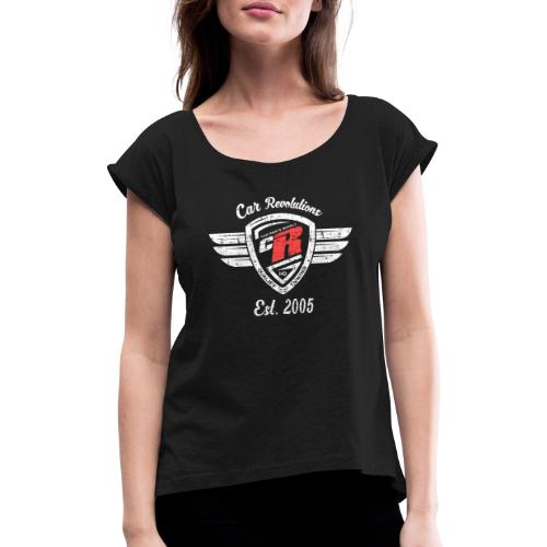 Car Revolutions Design Polo Shirt Side - Frauen T-Shirt mit gerollten Ärmeln