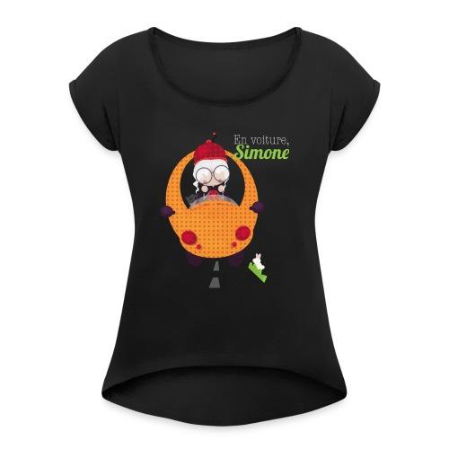 AUTOSIMONE - T-shirt à manches retroussées Femme