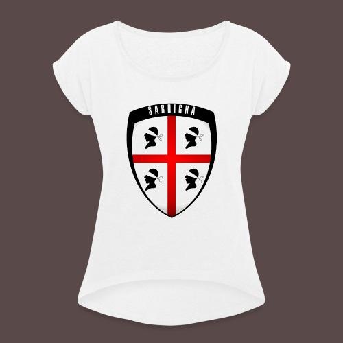 Sardegna Stemma - Maglietta da donna con risvolti